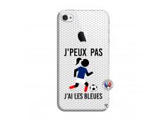 Coque iPhone 4/4S Je Peux Pas J Ai Les Bleues Maillot