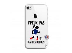 Coque iPhone 4/4S Je Peux Pas J Ai Les Bleues