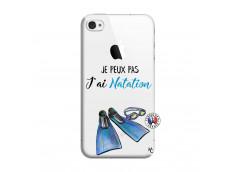 Coque iPhone 4/4S Je Peux Pas J Ai Natation