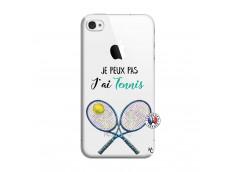 Coque iPhone 4/4S Je Peux Pas J Ai Tennis