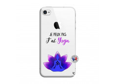 Coque iPhone 4/4S Je Peux Pas J Ai Yoga