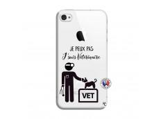 Coque iPhone 4/4S Je Peux Pas Je Suis Veterinaire
