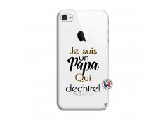Coque iPhone 4/4S Je Suis Un Papa Qui Dechire