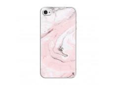 Coque iPhone 4/4S Marbre Rose Translu
