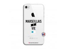 Coque iPhone 4/4S Marseillais à Vie