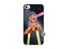 Coque iPhone 4/4S Cat Pizza Translu