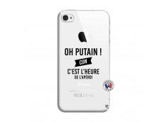 Coque iPhone 4/4S Oh Putain C Est L Heure De L Apero