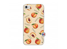 Coque iPhone 4/4S Sorbet Pêche Translu