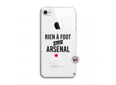 Coque iPhone 4/4S Rien A Foot Allez Arsenal