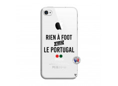 Coque iPhone 4/4S Rien A Foot Allez Le Portugal