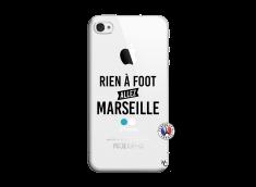 Coque iPhone 4/4S Rien A Foot Allez Marseille