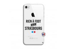 Coque iPhone 4/4S Rien A Foot Allez Strasbourg