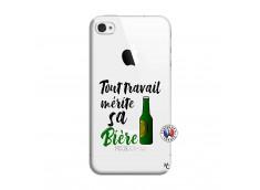Coque iPhone 4/4S Tout Travail Merite Sa Biere