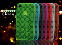 Coque iPhone 4/4S Silicon Circles