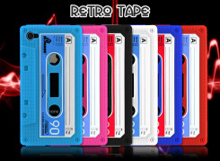 "Coque iPhone 4 ""Retro Tape"" - Color Edition"