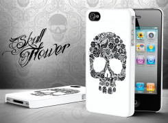 Coque iPhone 4/4S Skull Flower