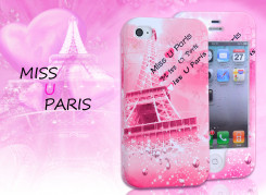 Coque Intégrale iPhone 4/4S - Miss u Paris