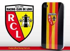"Coque Officielle iPhone 4 ""Racing Club de Lens"" - Noir"