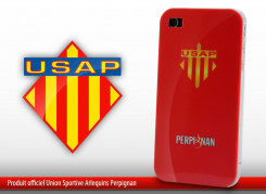 "Coque Officielle iPhone 4 ""USAP"" - Rouge"