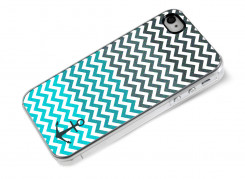 Coque iPhone 4/4S Blue Chevrons