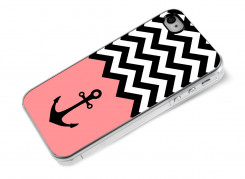 Coque iPhone 4/4S Pink Anchor