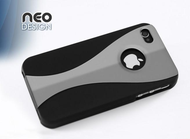 """Coque iPhone 4 """"Neo Design""""- violet"""