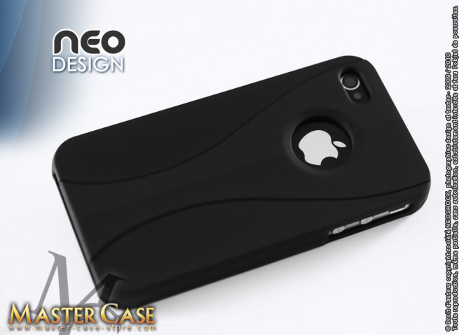 "Coque iPhone 4 ""Neo Design""-noir"