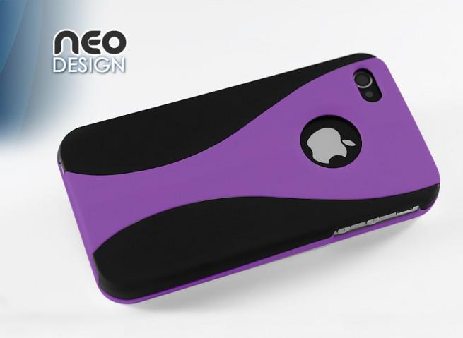 """Coque iPhone 4s """"Neo Design""""- violet"""