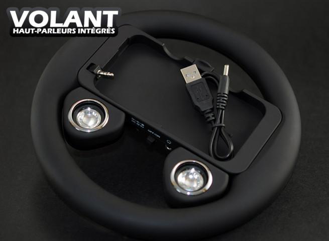 volant avec haut-parleurs integres pour iPhone 4