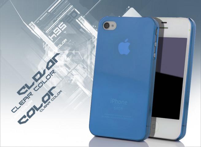 coque iphone 4s bleu