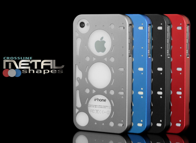 Coque iPhone 4 Metal Shapes par Crossline