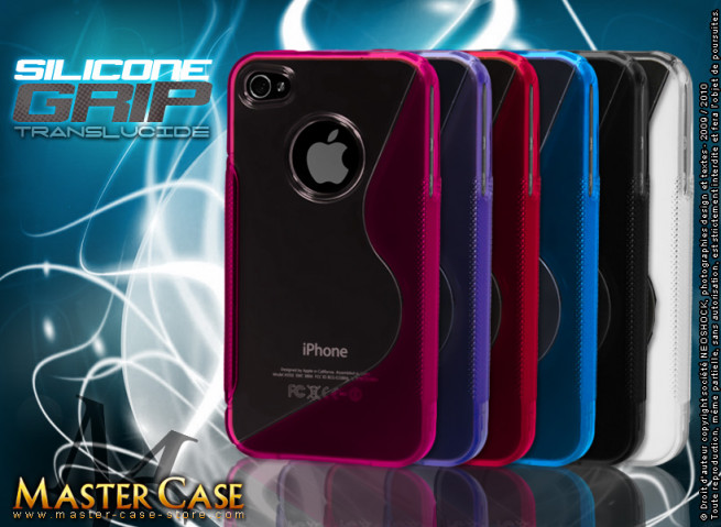 Coque iPhone 4/4S Silicone Grip Translucide