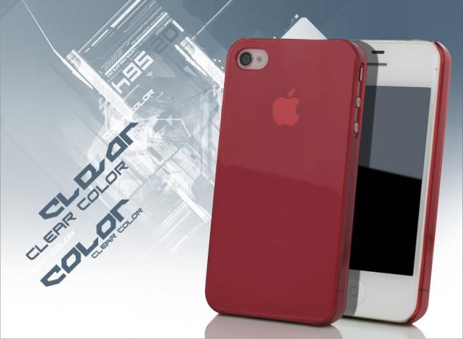 coque iphone 4s rouge