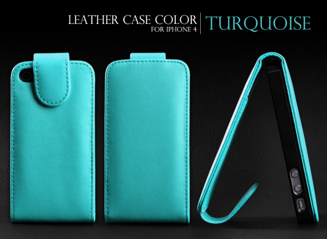Etui iPhone 4/4S Leather Color Black Edition