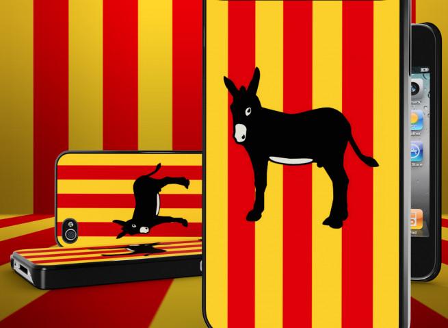 Coque iPhone 4 Drapeau Catalan