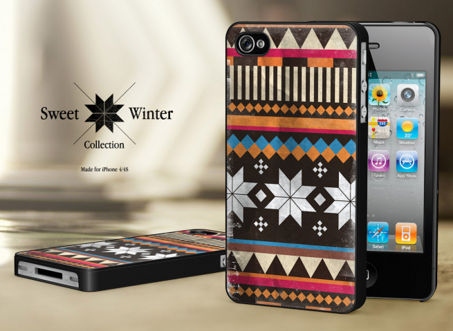 Coque Iphone 4G/4S Collection Sweet Winter Noirs M2