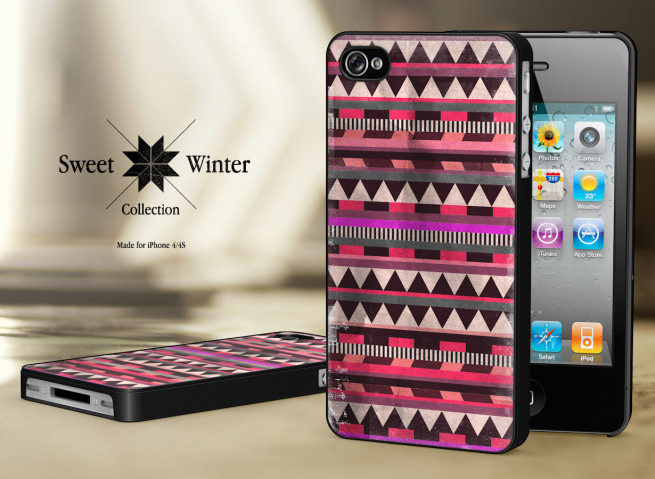 Coque Iphone 4G/4S Collection Sweet Winter Noirs M5