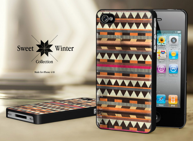 Coque Iphone 4G/4S Collection Sweet Winter Noirs M6