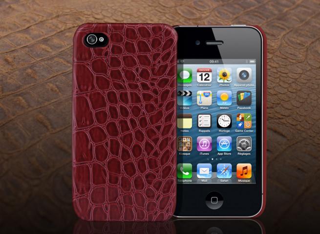 Coque iPhone 4/4S Croco Gloss