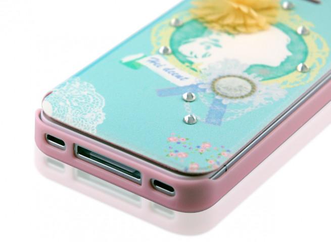 Etui Booklet iPhone 4/4S Happymori - Blue Lady