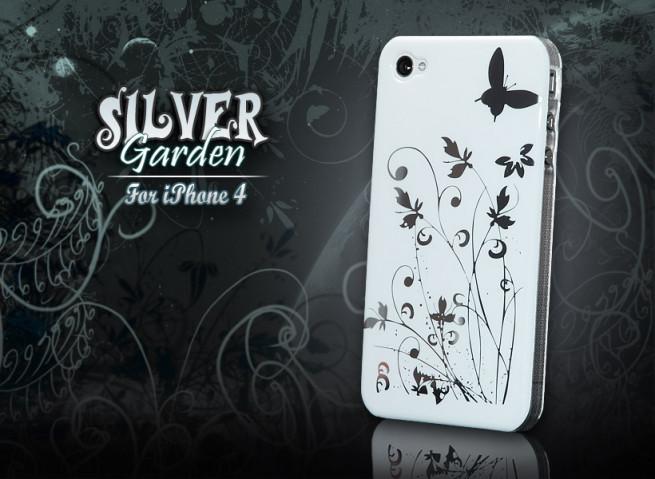 """Coque iPhone 4 """"Silver Garden"""" par Mastercase-blanc"""