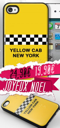 Coque iPhone 4/4S Yellow Cab New York by Bigben