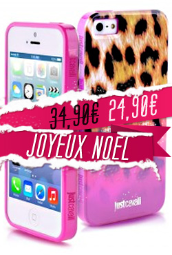 Coque iPhone 5/5S Just Cavalli Macro Leopard
