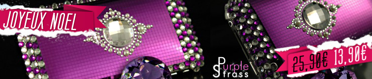 Coque iPhone 3G/S Purple Strass