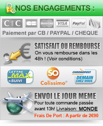 Livraison/Retours - Paiement 100% scuris