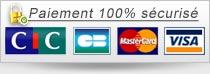 Paiement 100% sécurisé via la banque CIC