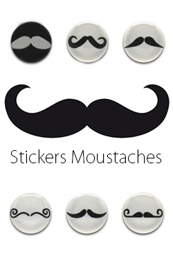 Stickers moustaches packs de 6