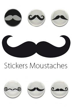 Stickers moustaches packs de 6